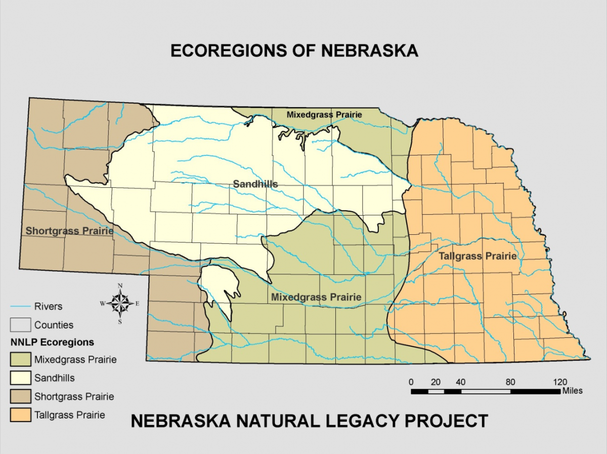 Nebraska Ecoregions Map